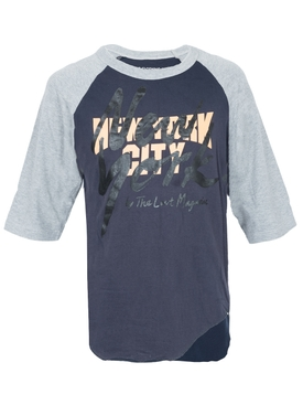 Navy and Grey Baseball T-shirt