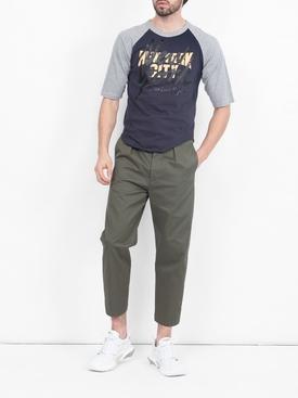 Navy and Grey Baseball T-shirt