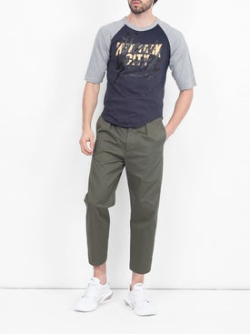 The Last Magazine - Navy And Grey Baseball T-shirt - Men