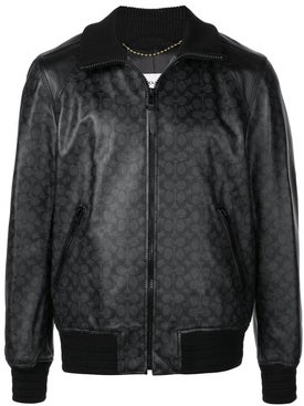 Coach - Signature Leather Track Jacket - Men