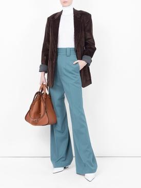 Wool Wide Leg Pant BLUE