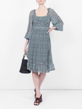 Proenza Schouler - Crepe Chiffon Square Neck Dress - Women