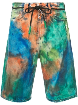 tie dye Denim short