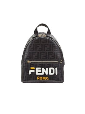 Fendi - Ff Fendimania Mini Backpack Black - Backpacks