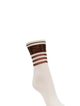 Fendi - Logo Socks White - Women