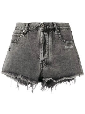 Off-white - Frayed Denim Shorts - Women