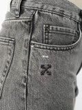 Off-white - Frayed Denim Shorts - Women