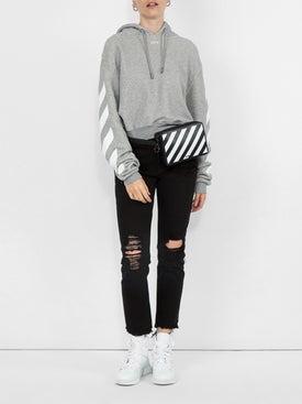 Off-white - Striped Sleeve Hoodie - Women