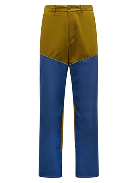 2 MONCLER 1952 OVERFLOW COLOR BLOCK PANTS BLUE AND GREEN