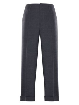 7 MONCLER FRAGMENT HIROSHI FUJIWARA GREY WOOL TROUSERS