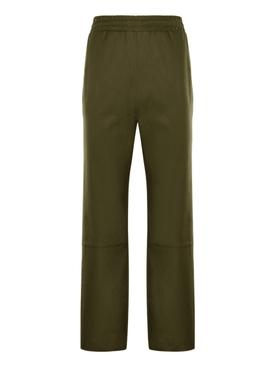 2 Moncler 1952 Green Gabardine Pants