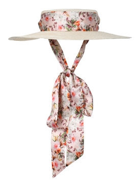 Gigi Burris Millinery - Floral Print Straw Boater Hat - Women