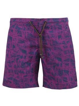 X Charvet Brush Strokes Swim Shorts, Purple