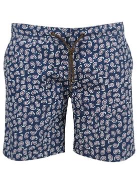 X Charvet Paisley Print Swim Shorts, Blue