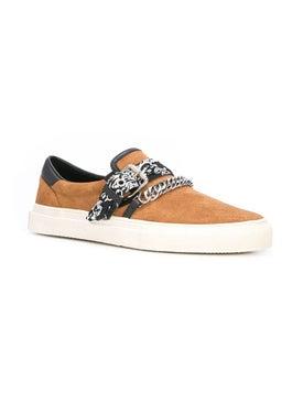 Amiri - Slip On Suede And Bandana Print Sneaker Brown - Men