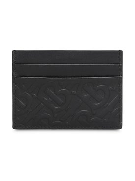Burberry - Monogram Leather Card Case - Women