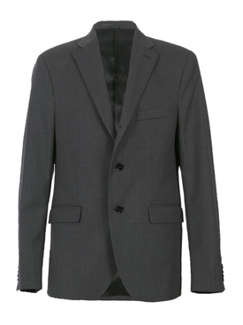 Dark Grey Wool Relaxed Suit Jacket GREY