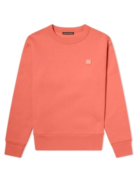 Pale red crew-neck sweatshirt