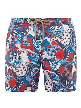 Thorsun - Mermaid Print Titan Swim Shorts - Men
