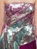 Halpern - Metallic Sequinned Draped Strapless Top - Women