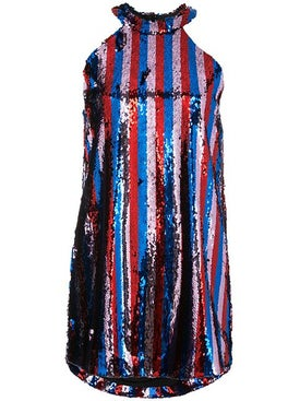Halpern - Sequined Halter Dress - Women