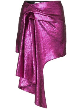 Halpern - Asymmetric Hem Mini Skirt Pink - Women