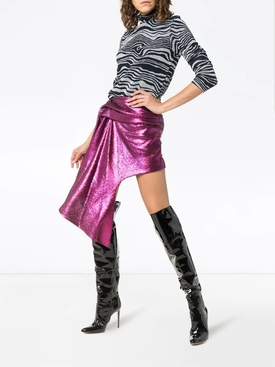 asymmetric hem mini skirt PINK