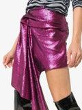 Halpern - Asymmetric Hem Mini Skirt Pink - Women