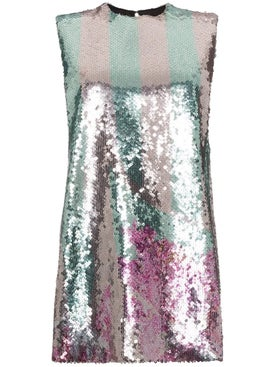 Halpern - Sequin Embellished Mini Dress - Mini