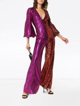 Halpern - Allino V-neck Bell Sleeve Jumpsuit - Women