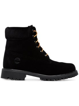 Off-white - X Timberland Velvet Boots Black - Women