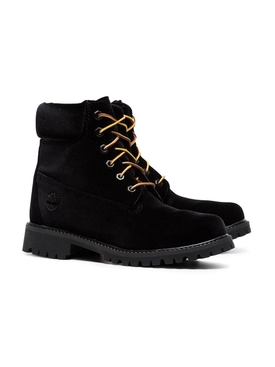 X Timberland velvet boots BLACK