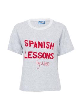 Spanish Lessons Tee, Grey