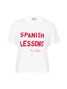 Lhd - White Spanish Lessons Tee - Women