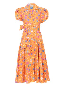 Lhd - Orange Floral Glades Dress - Women