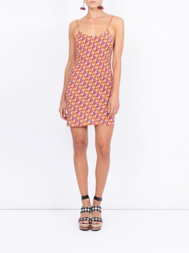 Bright checks Wynwood slip dress