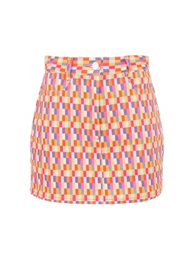 Bright checks Claude Skirt
