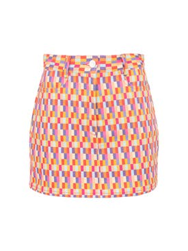 Lhd - Bright Checks Claude Skirt - Women