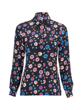 Floral Print Star Island Blouse