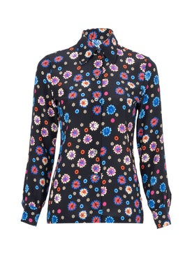 Lhd - Floral Print Star Island Blouse - Long Sleeved