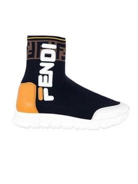 Boys Sock Sneaker BLACK