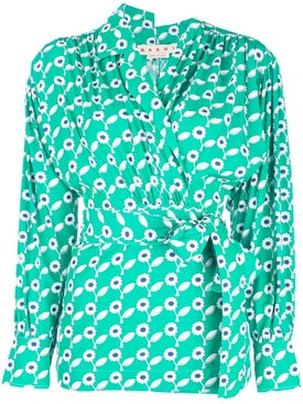 Marni - Floral Print Shirt Green - Women