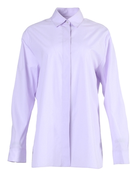 Oversized Lilac Button-Down Shirt
