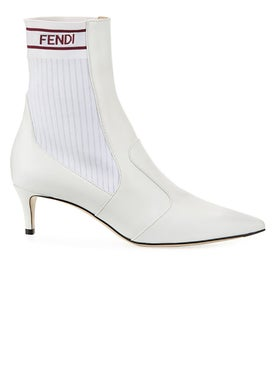 Fendi - White Rockoko Ankle Boots - Women