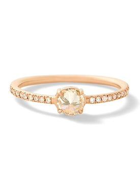Eva Fehren - Rose Gold Solitaire Ring - Women