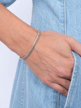 Eva Fehren - Rose Gold 2mm Line Bracelet - Women