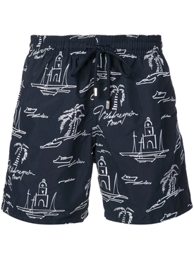 Embroidered swim shorts