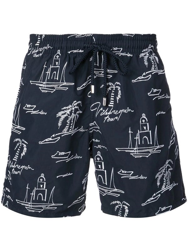 a45eaa3372 Vilebrequin - Embroidered Swim Shorts - Men