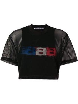 Alexanderwang - Aaa Mesh Cropped T-shirt - Women