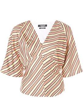 Calvin Klein 205w39nyc - Striped Back Tie Blouse - Women